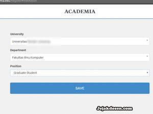 Cara daftar fungsi manfaat academia edu