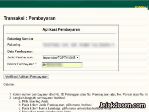 Cara membayar tagihan top tv via Internet Banking BSM