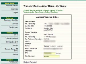 Cara Transfer Uang Dengan Internet Banking BSM