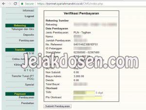 Cara membayar tagihan listrik dengan BSM internet banking
