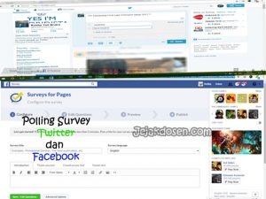 Cara membuat polling survey di facebook dan twitter