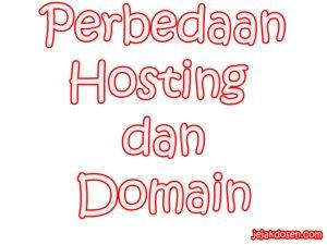 Perbedaan Hosting dan Domain di Blog