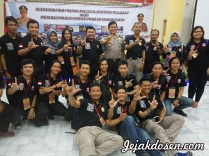 Pelantikan anggota Cyber Police Community di polda Lampung