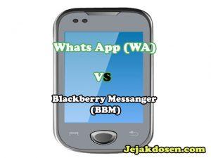 Perbedaan Fitur Chat Messanger WA dan BBM