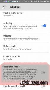 Filter Content Video di Youtube untuk anak