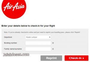 Cara Checkin Online Tiket Pesawat Terbang Airasia