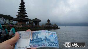 Tarif tiket masuk objek wisata Ulun Danu Beratan Bali