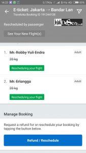 Cara ubah jadwal atau reschedule tiket pesawat di traveloka