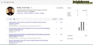 Jurnal atau artikel ilmiah anda terindeks di google scholar