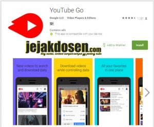 Download Aplikasi Youtube go di saat kuota menipis