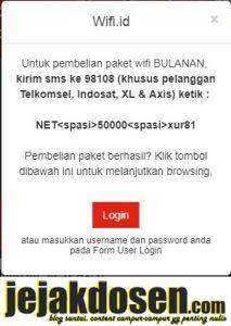 Beli pulsa wifi id tetapi tidak dikirim username dan password