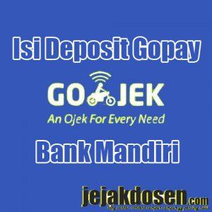 Cara isi deposit gopay gojek menggunakan bank mandiri