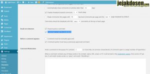 Cara non aktifkan link aktif pada kolom komentar wordpress