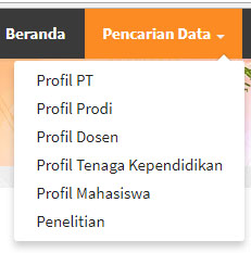 Website Pangkalan data dikti pusat informasi data kampus