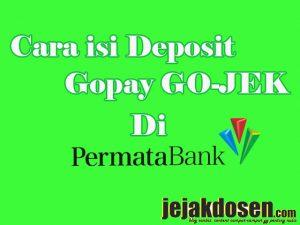 Cara cepat isi deposit gopay gojek dengan bank permata