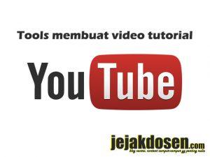 Tools sederhana untuk membuat video tutorial youtube pemula