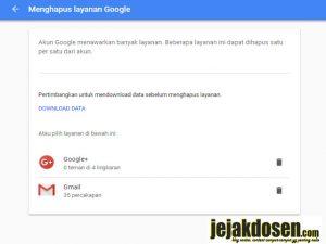 Cara menghapus akun google atau gmail dengan mudah