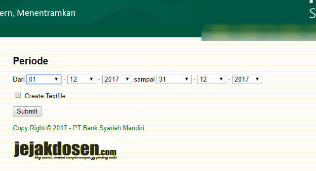 Cara Cetak Rekening Koran Bank Bsm Secara Online