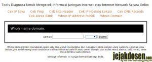 Bagaimana cara cek informasi jaringan internet secara online