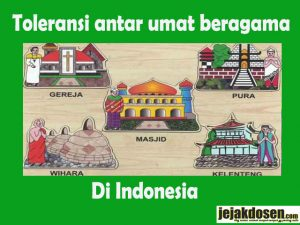 Definisi Toleransi antar umat beragama di Indonesia