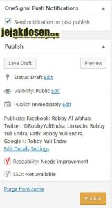 Cara publish postingan terjadwal di blog wordpress