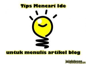 Tips pada saat tidak ada ide membuat postingan artikel blog