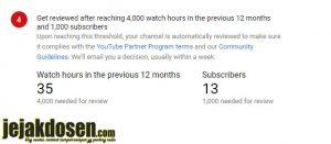 Syarat syarat terbaru mendaftar google adsense via Youtube