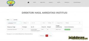 Cara cek akreditasi perguruan tinggi di Indonesia terbaru