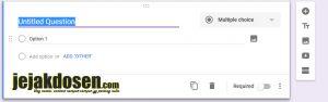 Cara membuat kuesioner secara online dengan google form