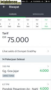 Cara perhitungan bonus dan point di Grab transportasi online