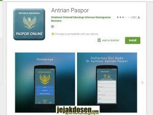 Syarat membuat dan perpanjangan paspor harus install aplikasi ini