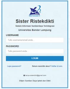 Cara Daftar di Sister atau sistem informasi sumber daya terintegrasi dosen