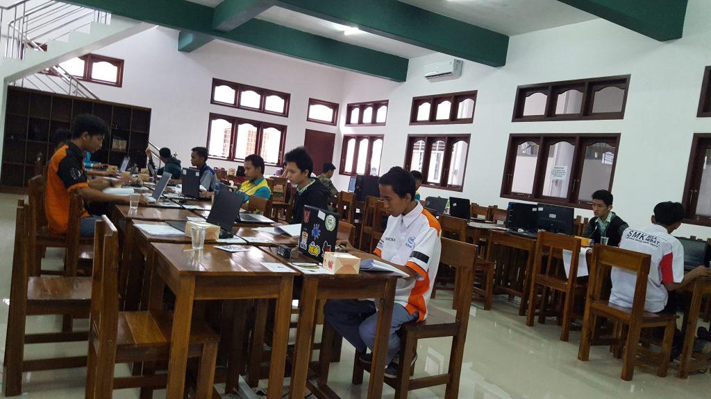 Menjadi juri di Lomba Kompetensi siswa 2019 atau LKS SMK se Propinsi Lampung